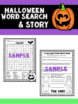 Halloween Word Search and Story