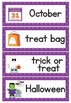 Halloween Word Wall Cards - 32 words