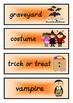 Halloween Word Wall Flashcards
