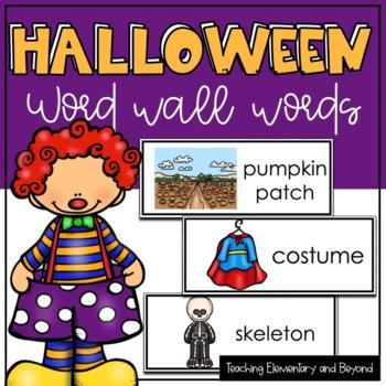 Halloween Word Wall Words