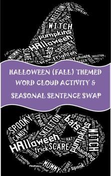 6 Traits Halloween Word Cloud Activity, Parts of Speech Re