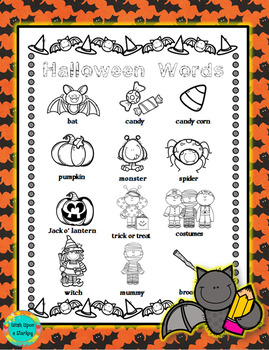 Halloween Word Wall for Daily 5 Writing Portfolios / Journ