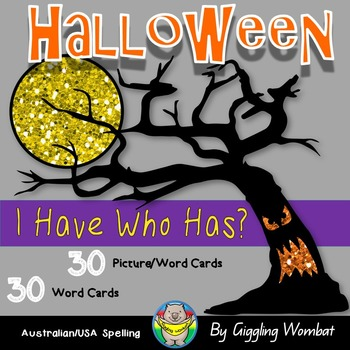 Halloween Words I Have Who Has?