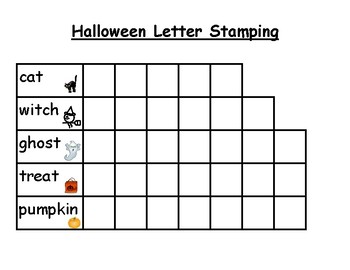 Halloween Words Letter Stamping