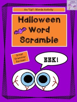 Halloween Word Scramble Activity (Version One)