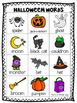 Mini Word Wall - Halloween Themed