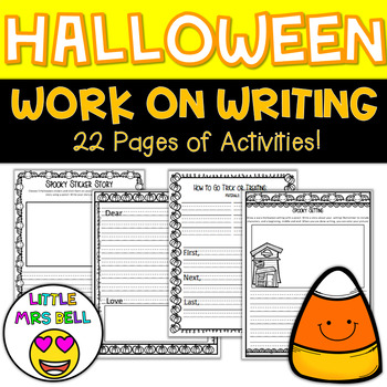 Halloween Work on Writing