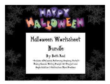 Halloween Worksheet Bundle