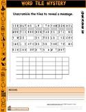 Halloween Worksheet Word Tile Unscramble Gr5
