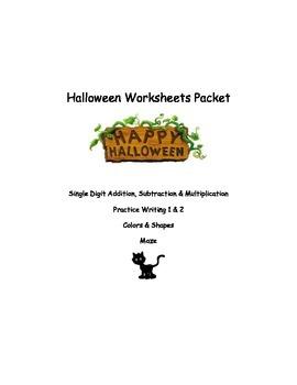 Halloween Worksheets Packet