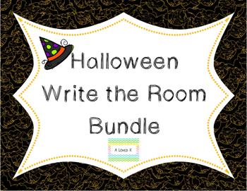 Halloween Write the Room Bundle