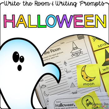 Halloween - Write the Room Writing Prompts {Print on Cards