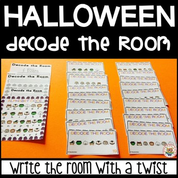 Halloween Write the Room with a TWIST - Decode the Room -