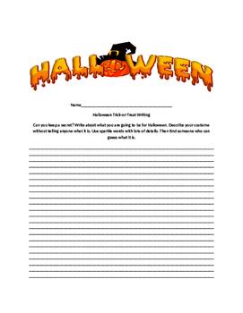 Halloween Writing 6+1 Traits Word Choice