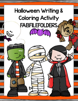 Halloween Writing & Coloring Activity
