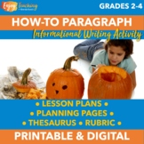 Halloween Informative Writing - How to Carve a Pumpkin