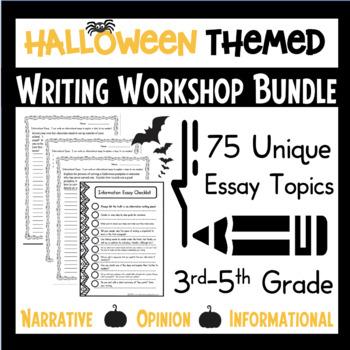 Halloween Writing Workshop Bundle Opinion Narrative Resear