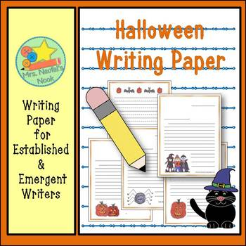 Writing Paper Templates - Halloween Theme