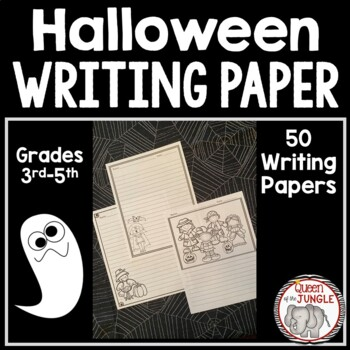 Halloween Writing Paper 3rd-5th