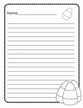 Halloween Writing Paper 3-5