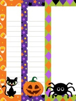 Halloween Writing Paper - 3 styles (7 1/2 x 10)