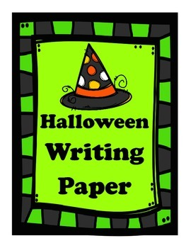 Halloween Writing Paper FREEBIE