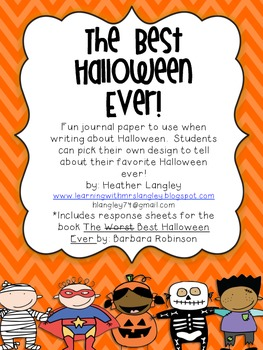 Halloween Writing Paper (The Best Halloween Ever!)