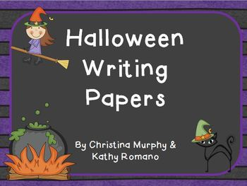 Halloween Writing Papers