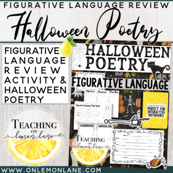 Halloween Writing Project Poetry ( Figurative Language / P