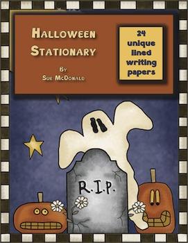 Halloween Writing Stationary Bundle - 24 Styles - High Qua