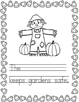 Halloween Writing Template/Prompts Second Week