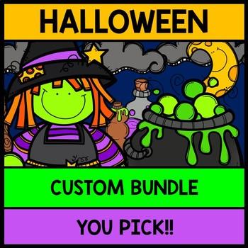 Halloween YOU Pick Bundle: Math, Reading, Writing, Cooking