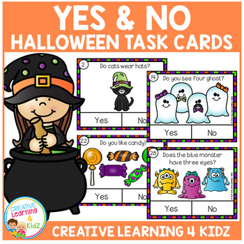 Halloween Yes & No Picture Question Task Cards