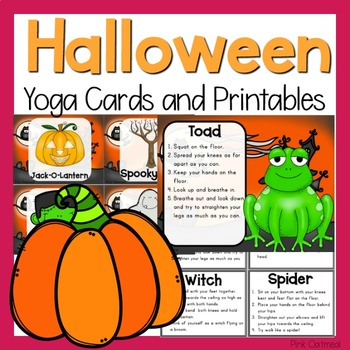 Halloween Yoga Cards and Printables- Halloween Activity