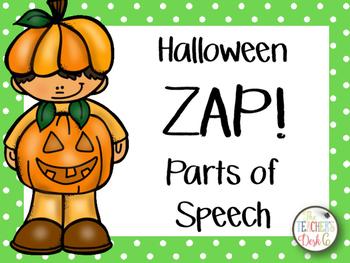 Halloween ZAP! Parts of Speech: Nouns, Verbs, Adjectives