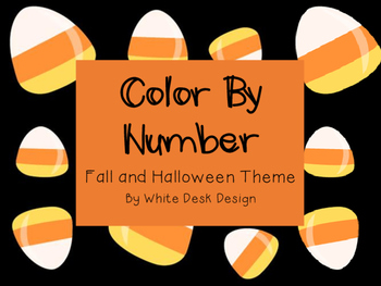 Halloween and Fall: Color By Number
