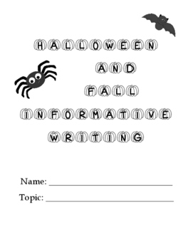 Halloween and Fall Informational Writing Packet