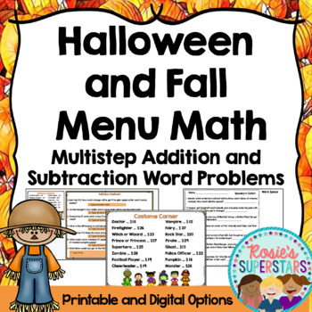 Halloween and Fall Math: Multistep Addition and Subtractio