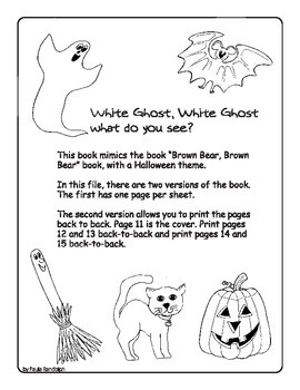 Halloween book - White Ghost, White Ghost
