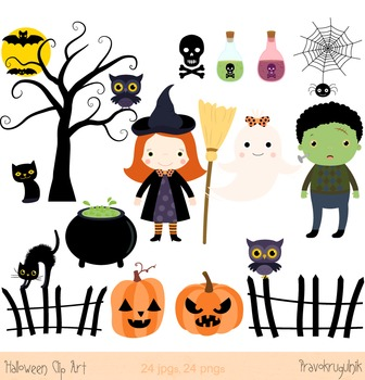 Halloween clip art, Halloween witch clipart, Spooky clip a