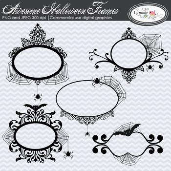 Halloween clip art frames