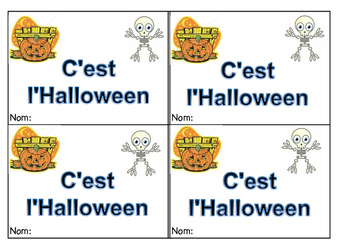 math Halloween counting booklet - French Immersion