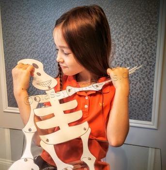 Printable friendly skeleton crafts for kids FREE fact shee