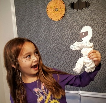 Halloween crafts activities printable mummy with FREE fact