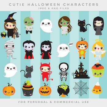 Halloween cute clip art - kawaii clipart cute whimsical va