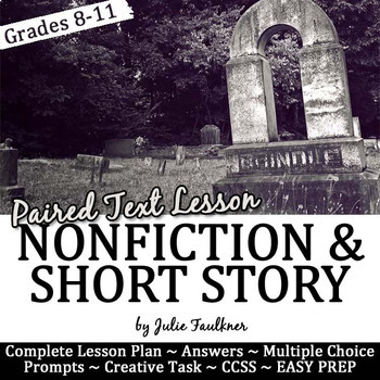 """Halloween Lesson for Teens, Short Story """"Cemetery Path"""" &"""