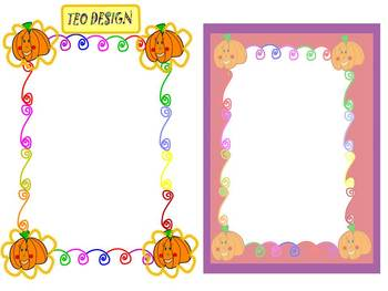 Pumpkins - Frames - Bulletin Board Decorations - Clip Art