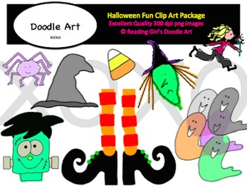 Halloween fun Clipart Pack