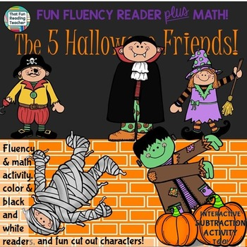 Halloween Subtraction: Phrasing and Fluency Reader with Su
