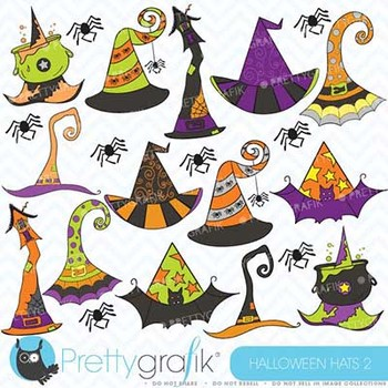 Halloween hats clipart, commercial use, vector graphics - CL357